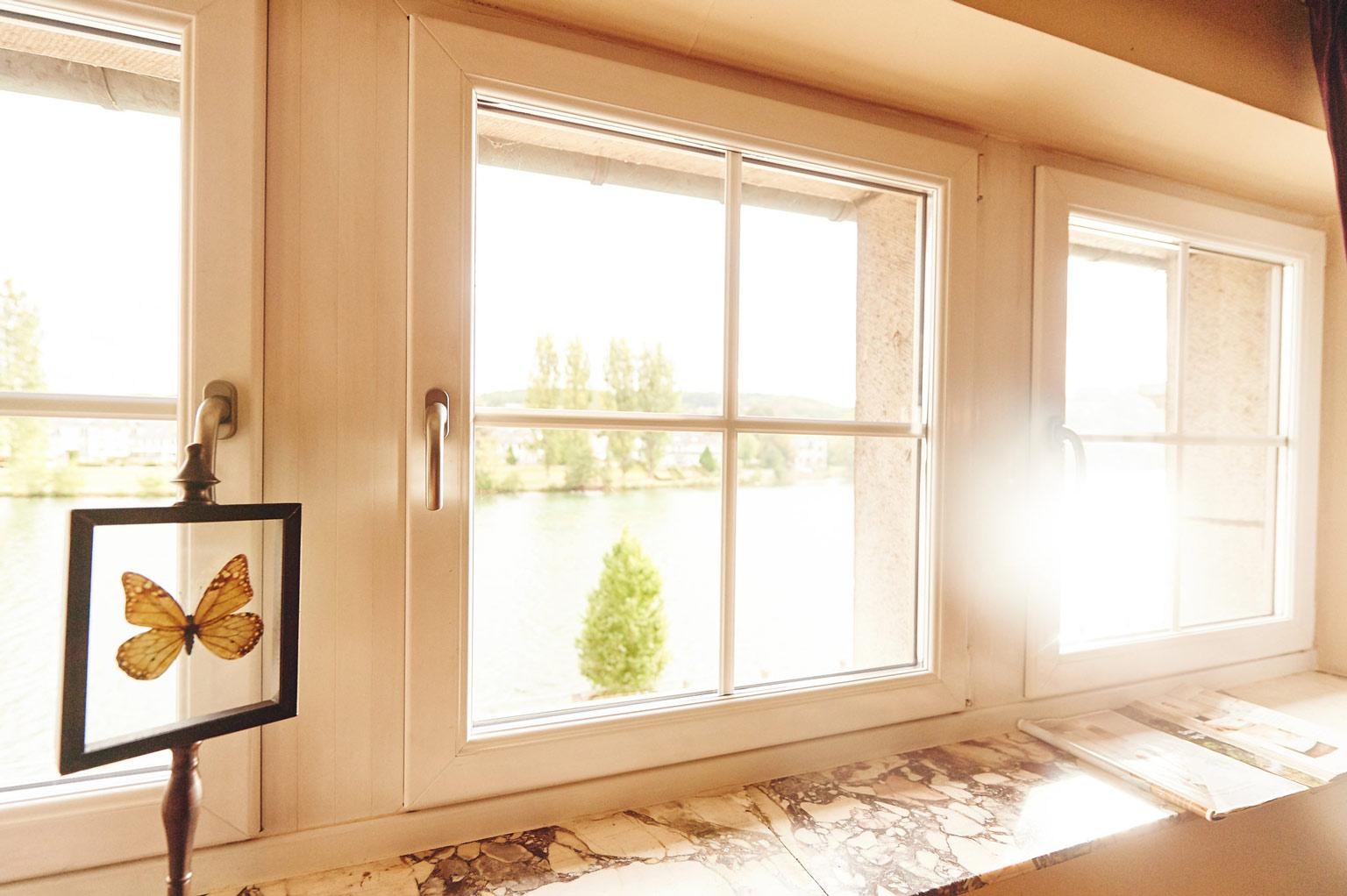 Fenêtres en PVC blanc
